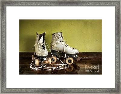 Old Roller-skates Framed Print by Carlos Caetano