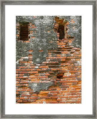 Old Ruins Framed Print by Yali Shi