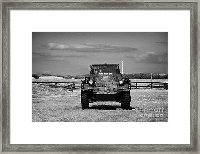 old rusting british army ferret armoured scout car Scotland uk united kingdom Framed Print by Joe Fox