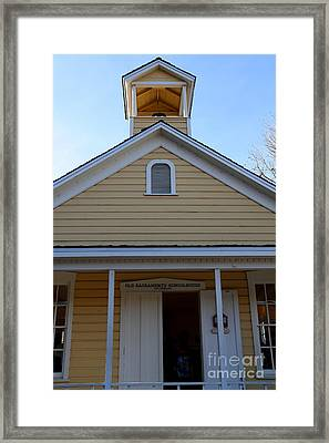 Old Sacramento California . Schoolhouse Museum . 7d11579 Framed Print by Wingsdomain Art and Photography