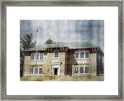 Old School On The Hill Framed Print by Kathy Jennings
