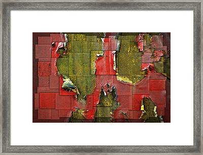Old Seat Framed Print by Steven  Michael