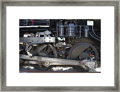 Old Steam Locomotive Engine 1258 . Wheels . 7d13000 Framed Print by Wingsdomain Art and Photography