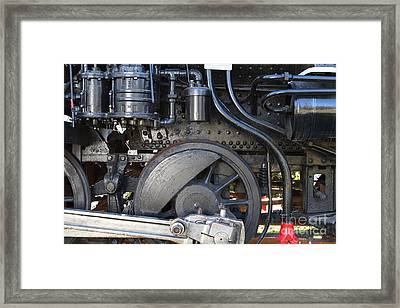Old Steam Locomotive Engine 1258 . Wheels . 7d13001 Framed Print by Wingsdomain Art and Photography