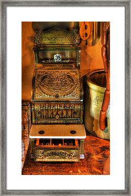 Old Time Cash Register - General Store - Vintage - Nostalgia  Framed Print by Lee Dos Santos