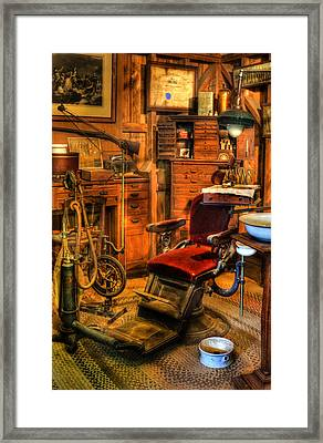 Old Time Dentist Office -  Dentistry - Dentist Chair -  Surgery - Dentist Chair Iv Framed Print by Lee Dos Santos