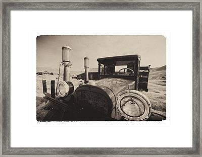 Old Time Picture Of A Truck Framed Print by George Oze