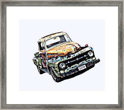 Old Timer 1952 Ford Pickup Truck Framed Print by Samuel Sheats