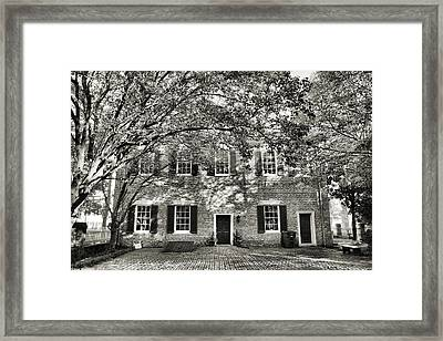 Old Town Backyard Framed Print by Steven Ainsworth