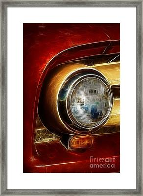 Old Truck Headlight Framed Print by Darleen Stry