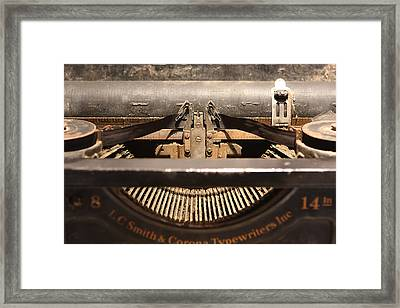 Old Typer Framed Print by David Paul Murray