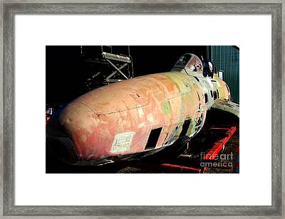 Old Us Fighter Jet Fuselage . 7d11252 Framed Print by Wingsdomain Art and Photography