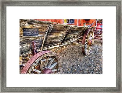 Old Wagon Framed Print by Jon Berghoff