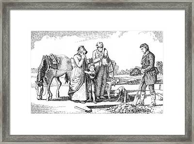 Old West Art Burial Framed Print by Gordon Punt