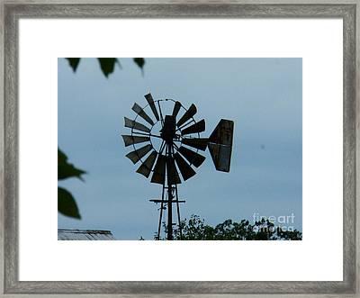 Old Windmill Framed Print by Joyce Kimble Smith