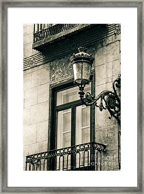 Old Window Lamp Framed Print by Syed Aqueel
