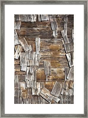 Old Wood Shingles On Building, Mendocino, California, Ca Framed Print by Paul Edmondson