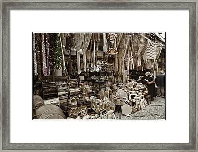 Old World Market Framed Print by Joan Carroll