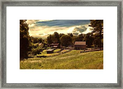 Olden Times Framed Print by Lourry Legarde