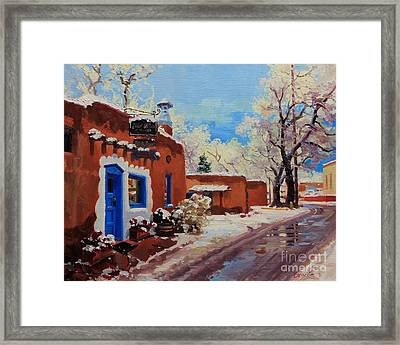 Oldest Adobe House  Framed Print by Gary Kim