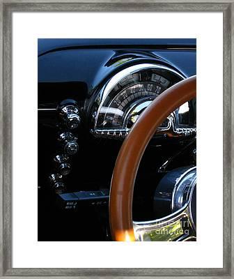 Oldsmobile 88 Dashboard Framed Print by Peter Piatt