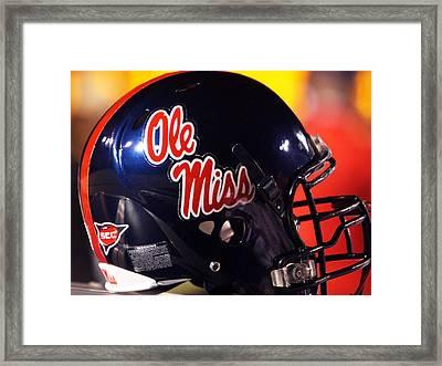 Ole Miss Football Helmet Framed Print by University of Mississippi