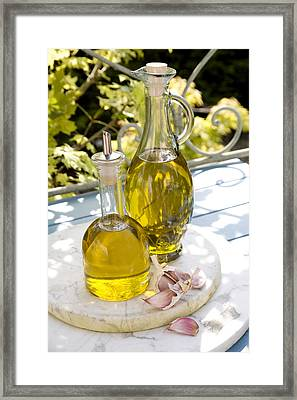 Olive Oil Framed Print by Erika Craddock