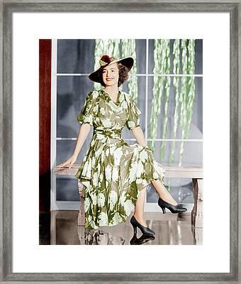 Olivia De Havilland, Ca. 1937 Framed Print by Everett
