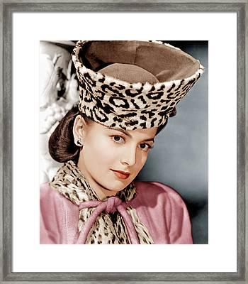 Olivia De Havilland, Ca. 1943 Framed Print by Everett