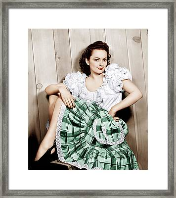 Olivia De Havilland, Ca. 1948 Framed Print by Everett