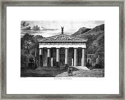 Olympia: Temple Of Zeus Framed Print by Granger