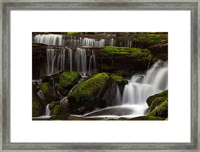 Olympics Gentle Stream Framed Print by Mike Reid