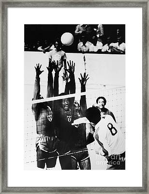 Olympics: Volleyball, 1976 Framed Print by Granger