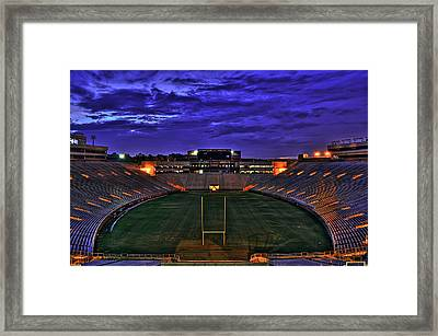 Ominous Stadium V2 Framed Print by Alex Owen