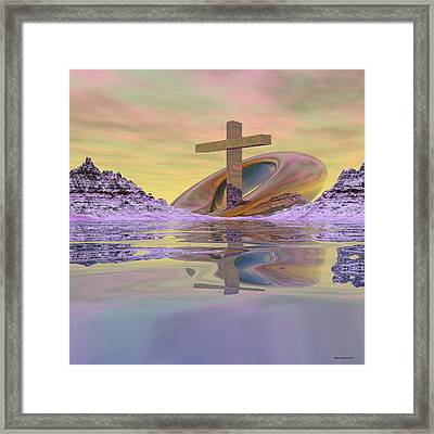 On Bended Knee Framed Print by Wayne Bonney