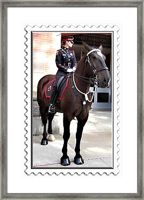 On Duty Officers Framed Print by Danielle  Parent