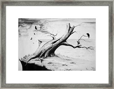 On Edge Framed Print by Suzanne Roach