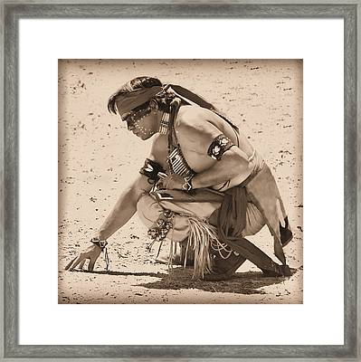 On Sacred Ground Framed Print by Paul Huchton