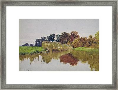 On The Arun Stoke Sussex  Framed Print by George Vicat Cole