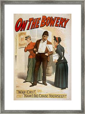 On The Bowery, A Salvation Army Soldier Framed Print by Everett