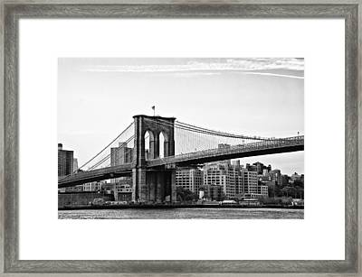 On The Brooklyn Side Framed Print by Bill Cannon