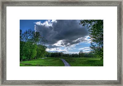 On The Course 3 Framed Print by Heather  Boyd