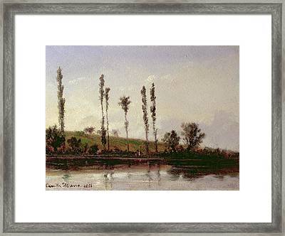 On The Outskirts Of Paris Framed Print by Camille Pissarro