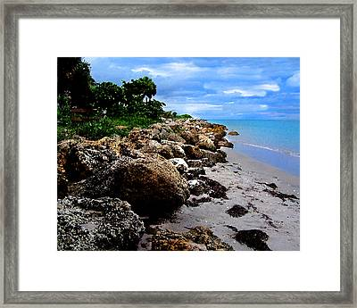 On The Rocks Framed Print by Grace Dillon
