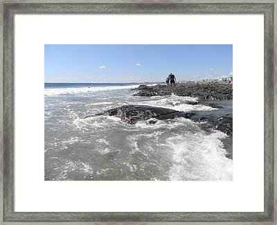 On The Rocks Framed Print by Kate Gallagher