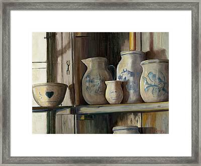 On The Shelf Framed Print by Sheila Kinsey