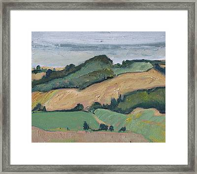 On The Valley Framed Print by Francois Fournier