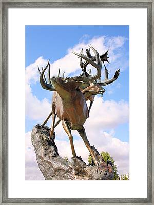 On Top Of The World Framed Print by Kristin Elmquist