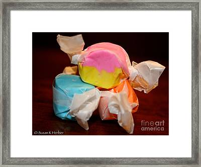 On Top Of The World Framed Print by Susan Herber