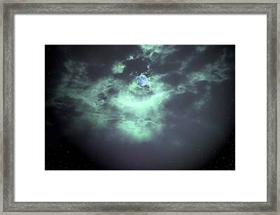Once In A Blue Moon Framed Print by Nina Fosdick